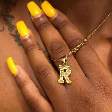 Gold Fashion Letter Pendant Necklaces