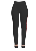 As Show Casual Active Patchwork Flat Straight Midweight Pants