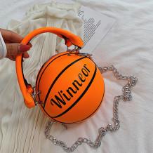 Orange Fashion Casual Letter Patchwork Print Bag Accessories