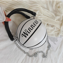 White Fashion Casual Letter Patchwork Print Bag Accessories