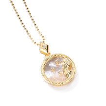 Aquarius Fashion Solid Zodiac Necklace