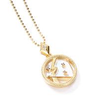 Sagittarius Fashion Solid Zodiac Necklace