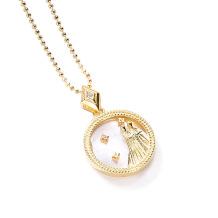 Gemini Fashion Solid Zodiac Necklace