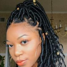 Black Fashion Solid Hign-temperature Resistance Wigs Plait