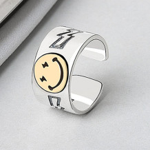 Yellow Fashion Smiley Ring Jewelry