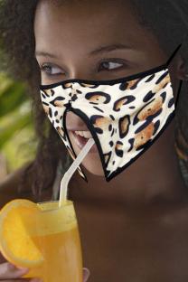 Leopard Print Casual Street Patchwork Leopard Mask