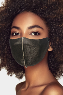 Black Casual Street Patchwork Solid Mask