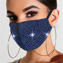 Blue Fashion Casual Hot Drilling Mask