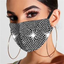 White Fashion Casual Hot Drilling Mask