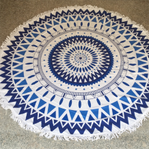 Colorful Blue Casual Party Print Tassel Split Joint Beach Mat