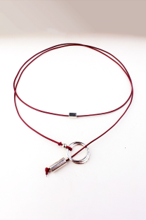 Red Street Patchwork Metal Accessories Decoration Necklaces