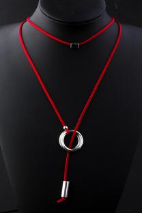 Red Punk Patchwork Metal Accessories Decoration Necklaces