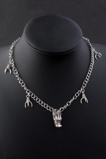 Silver Street Solid Split Joint Metal Accessories Decoration Necklaces