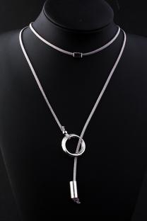 Grey Punk Patchwork Metal Accessories Decoration Necklaces