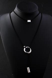Black Punk Patchwork Metal Accessories Decoration Necklaces