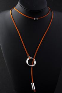 Brown Punk Patchwork Metal Accessories Decoration Necklaces