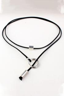 Black Street Patchwork Metal Accessories Decoration Necklaces
