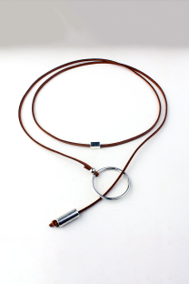 Brown Street Patchwork Metal Accessories Decoration Necklaces