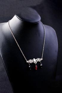 Silver Street Patchwork Metal Accessories Decoration Necklaces
