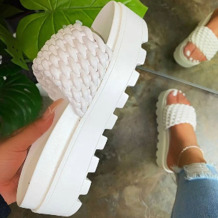White Fashion Street Split Joint Opend Out Door Shoes