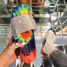 Blue Fashion Casual Split Joint Tie-dye Comfortable Shoes
