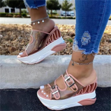 Pink Casual Street Hollowed Out Split Joint Opend Out Door Shoes