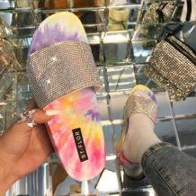 Pink Fashion Casual Split Joint Tie-dye Comfortable Shoes