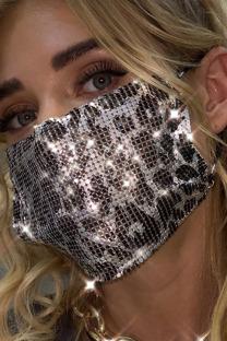 Silver Street Leopard Metal Accessories Decoration Mask