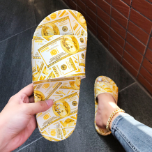Yellow Casual Street Split Joint Printing Opend Out Door Shoes