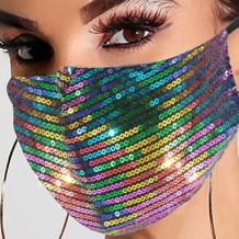 Colour Fashion Casual Patchwork Sequins Mask