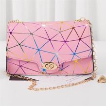 Pink Fashion Casual Print Chains Messenger Bags