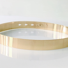 Gold Sexy Street Solid Split Joint Belts