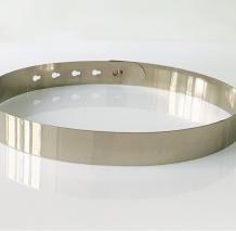 Silver Sexy Street Solid Split Joint Belts