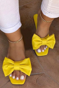 Yellow Fashion Daily Split Joint Opend Comfortable Shoes