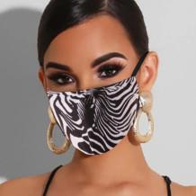 Black White Fashion Casual Print Split Joint Mask