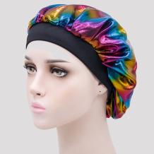 Black Casual Living Print Split Joint Hat