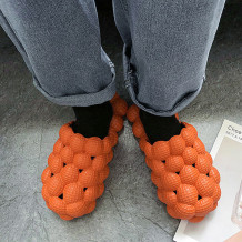 Orange Casual Living Hollowed Out Solid Color Slippers