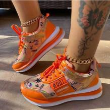 Orange Fashion Casual Bandage Split Joint Sport Shoes