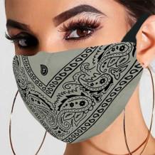 Grey Fashion Casual Print Split Joint Mask