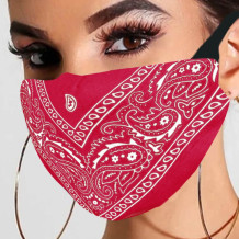 Red Fashion Casual Print Split Joint Mask