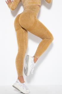 Yellow Street Sportswear Solid Split Joint