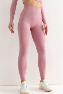 Burgundy Casual Sportswear Solid Split Joint High Waist Skinny Trousers