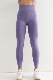Purple Casual Sportswear Solid Split Joint High Waist Skinny Trousers