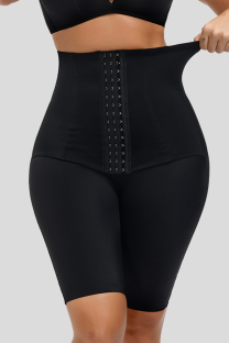 Black Fashion Casual Solid Split Joint Bustiers