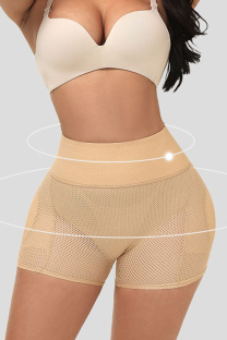 Apricot Fashion Casual Patchwork Solid See-through Bustiers