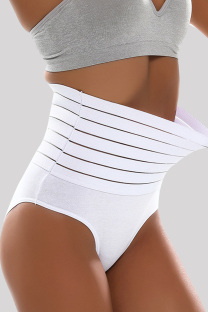 White Fashion Sexy Solid Split Joint Bustiers