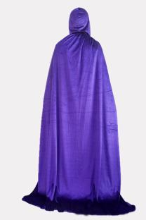 Purple Halloween Street Split Joint Frenulum Solid Costumes