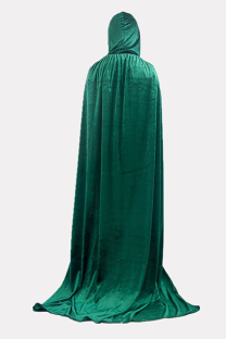 Green Halloween Street Split Joint Frenulum Solid Costumes