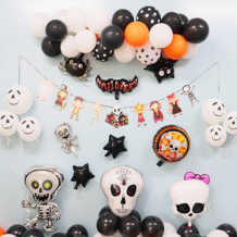 Multicolor Halloween Party Skull Character Costumes