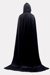 Black Halloween Street Split Joint Frenulum Solid Costumes